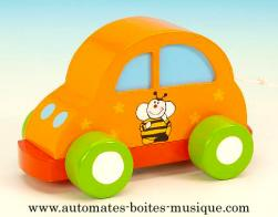 Voitures musicales animées Voiture musicale animée : voiture musicale orange