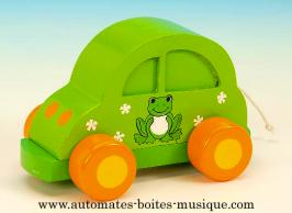 Voitures musicales animées Voiture musicale animée : voiture musicale verte