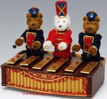 Musique mécanique mr christmas orchestre des ours banstand bears