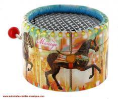 vente bo te musique manivelle sur le th me du carrousel avec des m lodies enfantines et automate. Black Bedroom Furniture Sets. Home Design Ideas