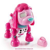 vente chien robot mini zoomer chien robot zuppie love version glam avec sac rose et automate. Black Bedroom Furniture Sets. Home Design Ideas