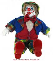 Clowns automates musicaux Clown automate musical en porcelaine : grand clown musical non animé