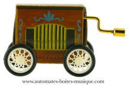 """Boîtes à musique à manivelle en forme d'orgue de Barbarie Boîte à musique à manivelle en forme d'orgue de Barbarie: boîte à musique """"Boléro"""""""